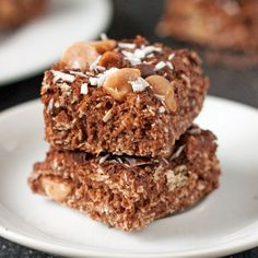 Gluten Free Chocolate Peanut Butter Bars (with coconut)