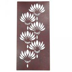 Set 4 Lotus Metal Wall Art Panels $279.95