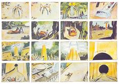 """noahberkley: """" Moebius created over 1000 storyboards for the Alejandro Jodorowsky's adaptation of Dune. 1000 boards all collected in that book Frank Pavich wields. Frank Herbert, Comic Book Artists, Comic Artist, Pink Floyd, Jodorowsky's Dune, Art Sketches, Art Drawings, Moebius Art, The Holy Mountain"""