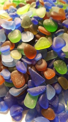 Sea glass collected in Puerto Rico