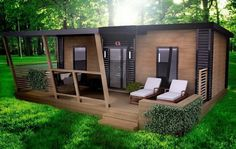 Country House Design, Small House Design, Warren House, In Law House, Build My Own House, Garden Cabins, Summer House Garden, Sauna Design, Backyard Office