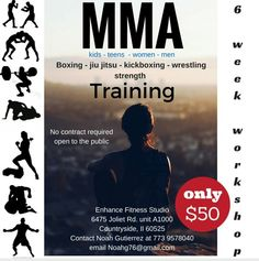 Coming  soon to Enhance Fitness Studio! Learn the very  bestvin boxing, strength  training,  kickboxing,  jiu jitsu, cardio, wrestling and more! No previous experience  required. First timers welcome. Please private message Noah Gutierrez at Noahg76@gmail.com or call  773 9578040 for more information.  Thanks  and keep having a great day!  #mma #strengthtraining #boxing #cardio #wrestling #jiujitsu #training #enhancefitnessstudio #countrysideillinois