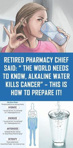 """Retired Pharmacy Chief Said: """" The World Needs To Know, Alkaline Water Kills Cancer"""" – This is How To Prepare It! - Health Beauty Tips Health And Beauty Tips, Health And Wellness, Health Tips, Health Care, Health Fitness, Beauty Guide, Healthy Beauty, Natural Cures, Natural Healing"""