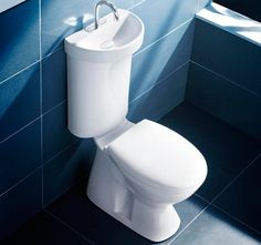 Save on your monthly water bill by setting up this toilet sink in your bathroom. The lid of the toilet comes with an integrated sink which has a special basin that allows water to drip down to the tank for more efficient water use.]Read More.