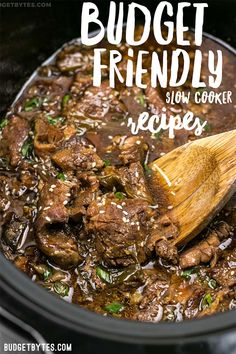 Slow cooker recipes will save you money AND effort by practically cooking themselves. Make big batches to eat all week to maximize your time and money. #slowcooker #slowcookerrecipes #crockpot #crockpotrecipes #frugal #budget #homemade