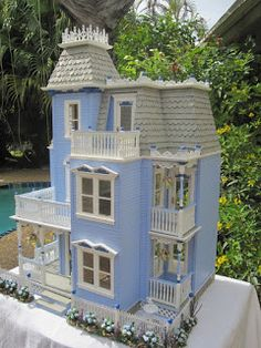 The Glenview Dr. Victorian Dollhouse    This is the second custom design dollhouse this year. Taking things I love from houses I have mad...
