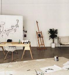 Minimalist Scandinavian art studio // tumblr room decor hipsters aesthetics