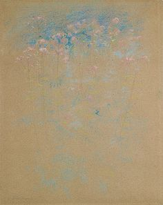 John Henry Twachtman Weeds And Flowers Ca 1889 91 Pastel On Paper