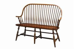 Amish Furniture Continuous Arm Hertford Windsor Bench