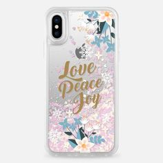 Casetify iPhone X Liquid Glitter Case - Love Peace Joy by Werlang Studio #iphone10,