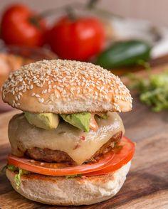 Southwestern-Style Turkey Burgers | Southwestern-Style Turkey Burgers