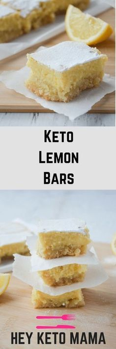 This recipe for keto lemon bars is an absolute low carb dream! With only 4g of net carbs per serving, you'll be happy to indulge in this bright and tangy treat without a shred of guilt!   heyketomama.com via @heyketomama