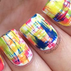 @nailmachine great dry brush nail art tutorial