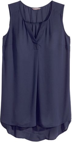 H&M - H&M+ Sleeveless Tunic - Dark blue - Ladies New Fashion Trends, Fashion Tips For Women, Fashion Blogs, Fashion Outfits, Fashion Fashion, Curvy Petite Fashion, Surfer Girl Style, Corporate Attire, Workwear Fashion
