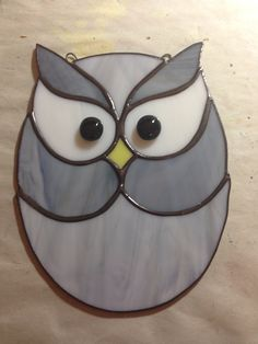 Stained glass owl suncatcher
