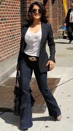 Salma Hayek at 'The Late Show with David Letterman' in New York City