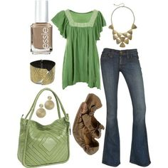 This is so cute. I love the green!