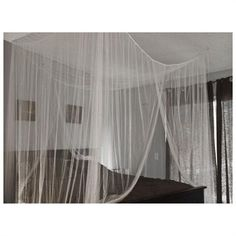 white four corner bed canopy mosquito net queen