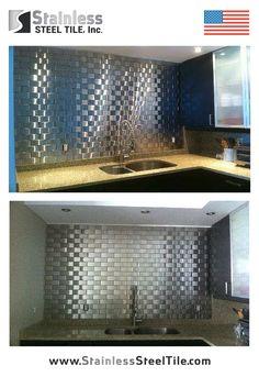 Restaurant Kitchen Backsplash stainless steel tile backsplash | modern metal tiles