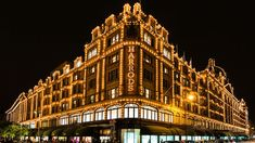 Harrods Department Store In London At Night Editorial Stock Image - Image of shop, store: 45128299 Things To Do In London, Free Things To Do, Free London Attractions, London Restaurants, Cv Online, Highgate Cemetery, London Night, Stock Image, Westminster Abbey