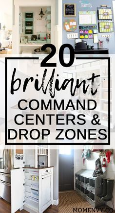 20 Brilliant Command Centers and Family Drop Zones. Get yourself organized this year and make mornings easier with these creative family spaces. They're perfect set ups for mudrooms. Get organized for back to school. Round-Up from Mom Envy. Family Organization Wall, Back To School Organization, Organization Station, Family Organizer, Organization Hacks, Organizing Ideas, Bathroom Organization, Small Entryway Organization, Organized Entryway
