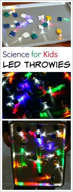 Science for Kids: Explore light, circuits, and magnetism by making your own LED throwies. ~ BuggyandBuddy.com