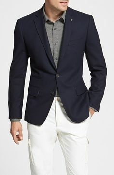 Wallin & Bros. Trim Fit Wool Blazer available at #Nordstrom