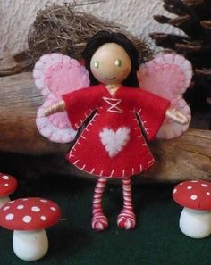 valentine fairy bendy doll by The Enchanted Tree