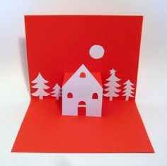 Tutorial: hand made POP UP CARD for Christmas!! ~ PerlillaPets