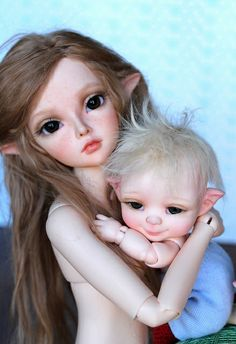 Awww! She's got freckles!!  bjd, minifee, nappy choo, fairy, elf  | Flickr - Photo Sharing!