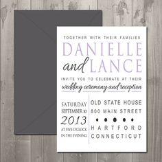 Hampton Square Wedding Invitation - DIY Printable Invitation $15.00