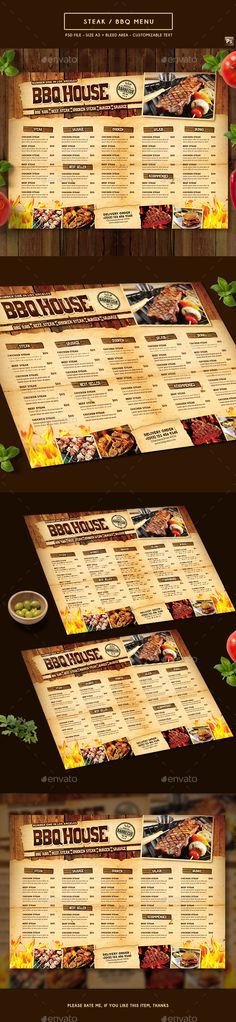 Indian A And Us Letter Food Menu  Food Menu Template Menu