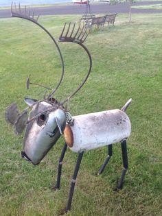 Steve Cook, Big Horn Sheep, Barrel Horse, Horse Gifts, Found Object Art, Three Little Pigs, Scrap Metal Art, Junk Art, Welding Projects