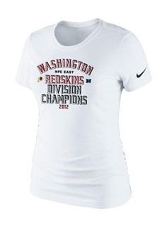 Ladies, celebrate your Redskins as 2012 NFC East Division Champs with this NFL Nike Division Champs T-Shirt.