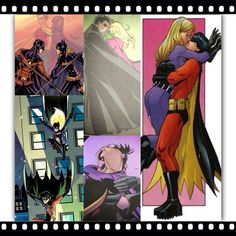 Tim Drake and Stephanie brown collage. Much cuter batgirl/robin couple than dick and Barbara just saying