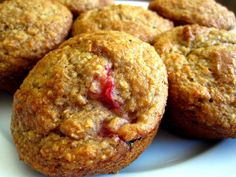 Oat Bran, Yogurt and Berry Muffins: These moistmuffins are made with cholesterol-lowering oat bran and nutritious yogurt and fruit. They're delicious! 3/4 cup oat bran1 cup whole-wheat flour1/3 cup granulated sugar1tsp baking powder1 tsp baking soda1 1/2 cups low-fat vanilla or lemon yogurt1 egg1/4 cup vegetable oil1 cup fresh strawberries (chopped) or blueberries In a bowl, combine oat bran, flour, sugar, …
