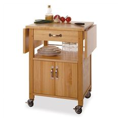 Found it at Wayfair - Basics Wood Top Kitchen Cart in Natural