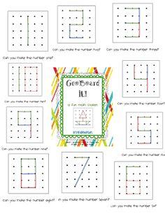 Ta-Dah! GeoBoard It! Math Station Pack and a Freebie!! - First Grade Blue Skies