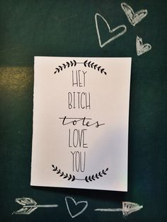 Hipster valentines day card Hey bitch totes by TheHipsterHousewife, $4.50
