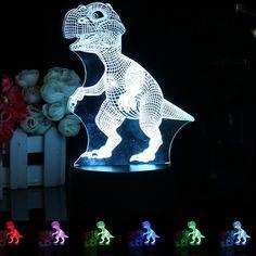 Multi Dinosaur 3d Night Lamp Usb Night Light Multicolor Lava Led Lighting Table Kids Christmas Touch Control Lighting Gifts Suitable For Men Women And Children