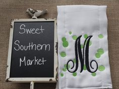 Monogrammed Dots Burp Cloth + Boy + Girl + Newborn + Gift + Baby Shower by SweetSouthernMarket on Etsy