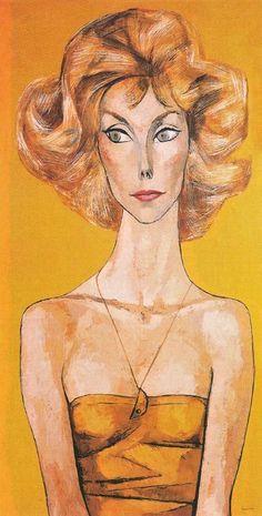 Betsy Von Fustemberg 1965 by Oswaldo Guayasamin