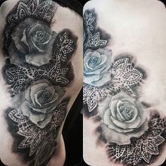 lace tattoo by Falukorv