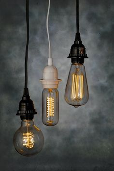 Old school Edison light bulbs for vintage feel event lighting.