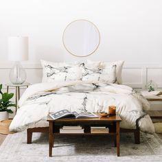 Chelsea Victoria Marble Duvet Cover | Deny Designs