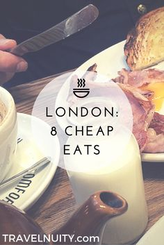 Want to know the best recommendations for cheap eats in London from 8 travel… London Eye, Eurotrip, London Bucket List, Essen In London, London Travel Guide, Uk And Ie Destinations, Holiday Destinations, Sightseeing London, Beste Hotels