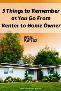 If you've been renting your whole life, it's easy to overlook certain important aspects of homeownership, but you still need to know them. We make it easy for you with the 5 things you must remember as you move from renter to homeowner - by Dustin Brohm of Search Salt Lake searchsaltlake.com/
