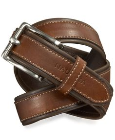 Nautica Boys' Leather Belt