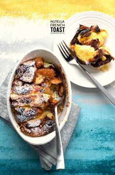 Baked Nutella French Toast  Read more - http://www.stylemepretty.com/living/2014/03/12/baked-nutella-french-toast/