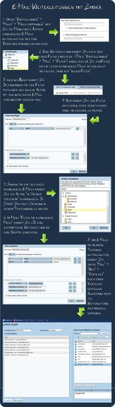 E-Mail-Weiterleitungen in Zimbra einrichten.